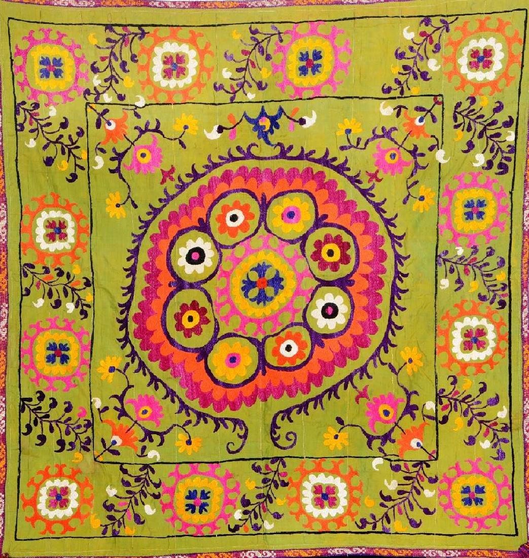 Green Lakai 'Ikat-Embroidery' (Sofreh),