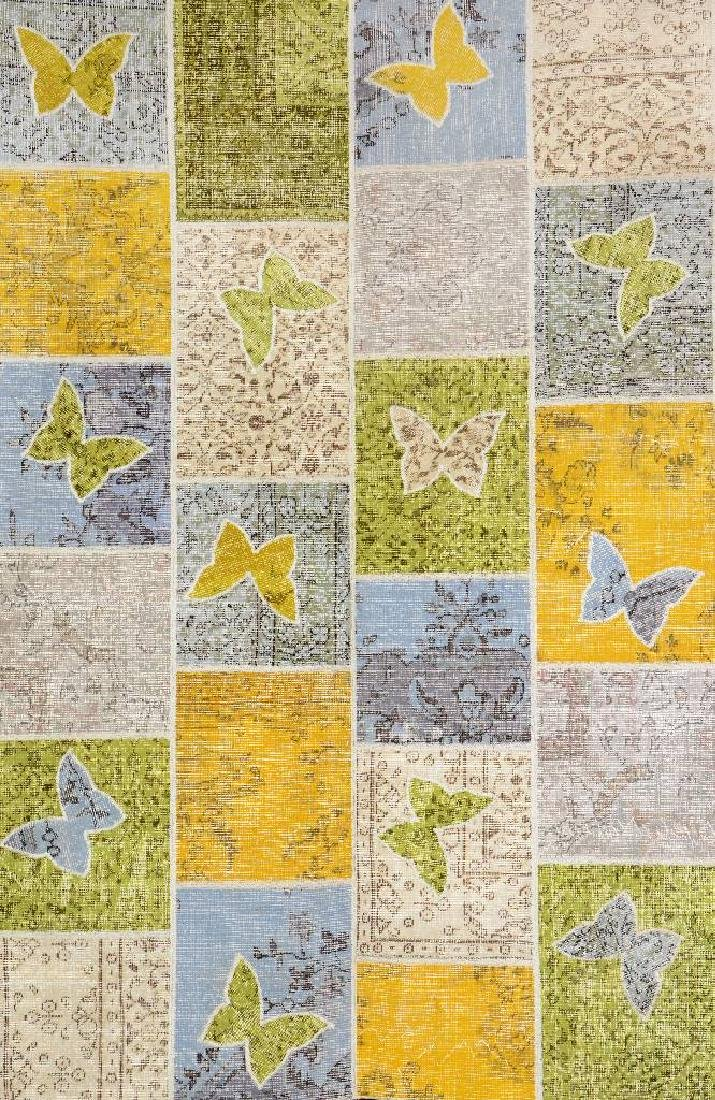 Isparta Patchwork Rug (Butterfly Design),