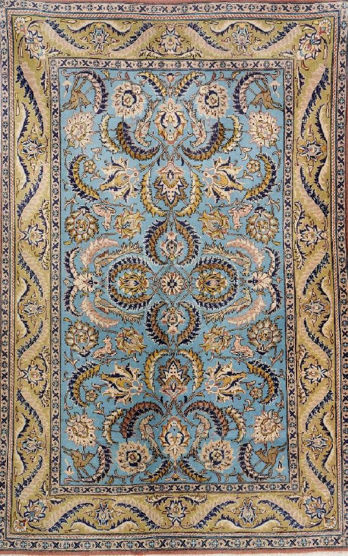 Kurk Qum 'Part-Silk' Rug,
