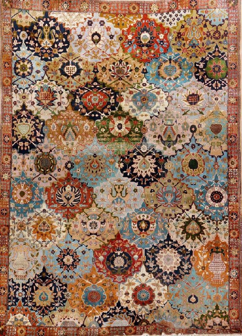 Lahore 'Part-Silk' Rug (Safavid Kerman-Vase Design),