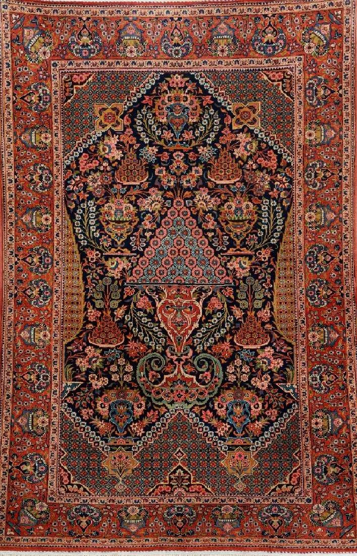 Kurk Kashan Rug (Hadji-Khanumi Design),