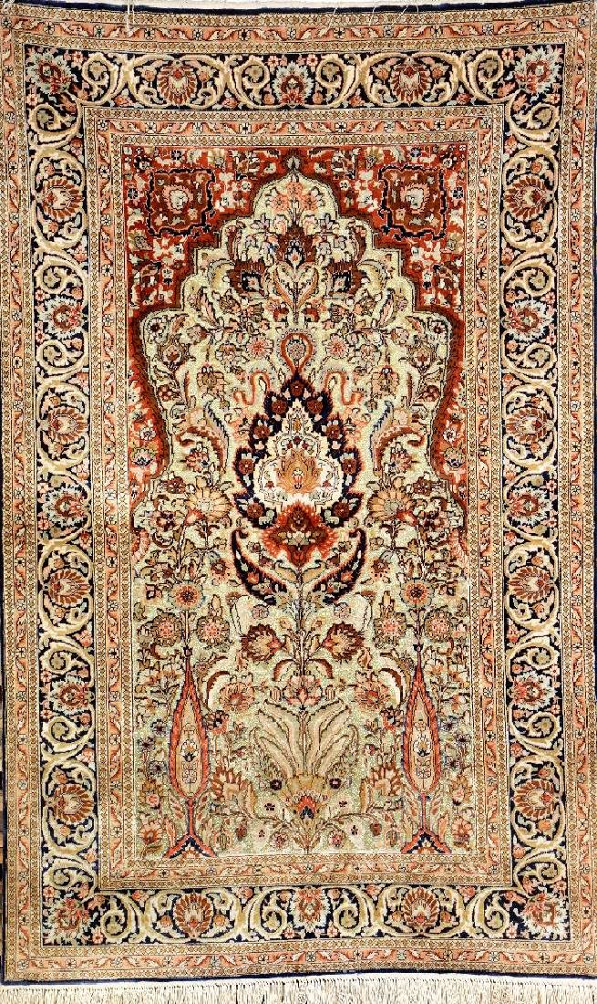Fine Chinese Silk & Metal-Thread Hereke,