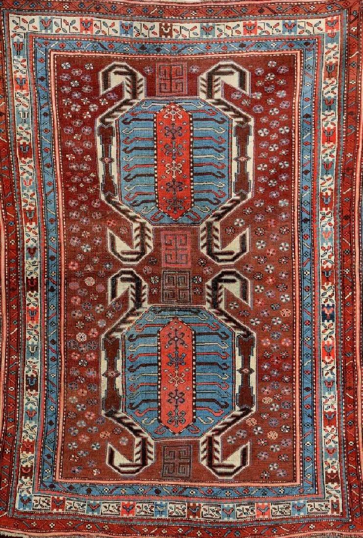 Unusual Shikli Kazak Rug (Lenkoran Design),