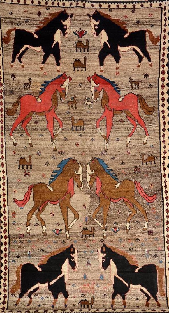 Gabbeh Rug (Horse Design),