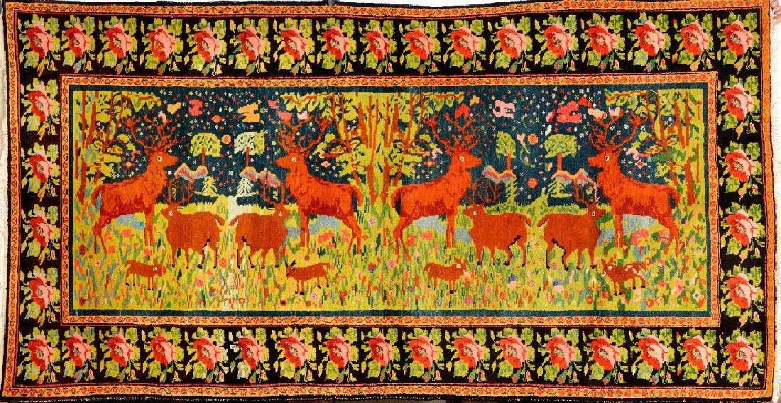 Karabagh 'Pictorial Rug' (Deer Family),