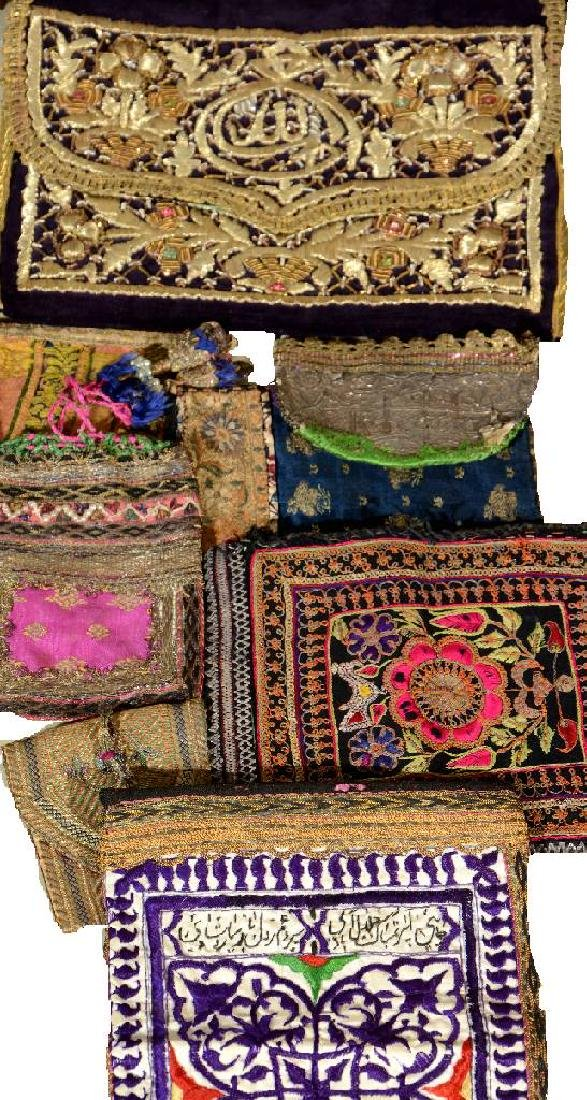 (8 Lots) 8x Small 'Chanteh Bags' With Metal- Threads,