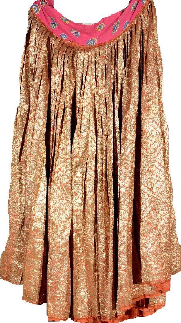 Rare Silk & Metal-Thread Women-Skirt (Qajar Dynasty),