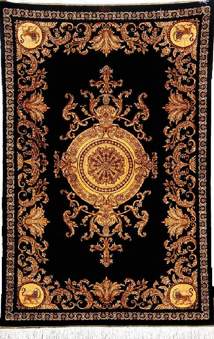 Very Fine & Unique 'King Crown' Silk Qum 'Ahmadi' Rug