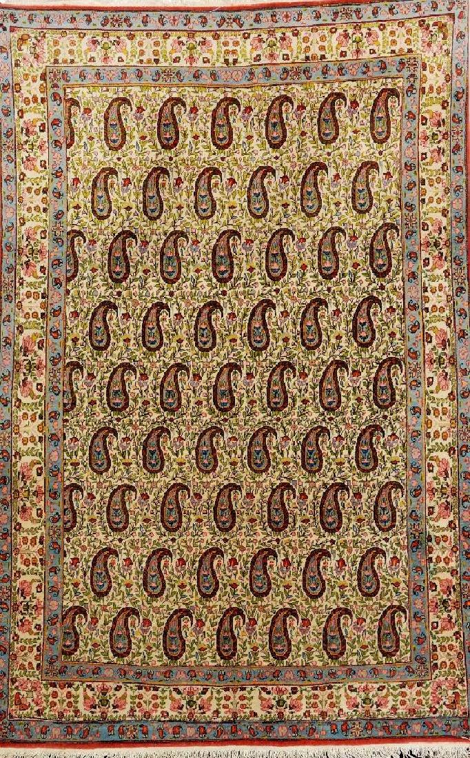 Kurk Qum Rug (Boteh Design),