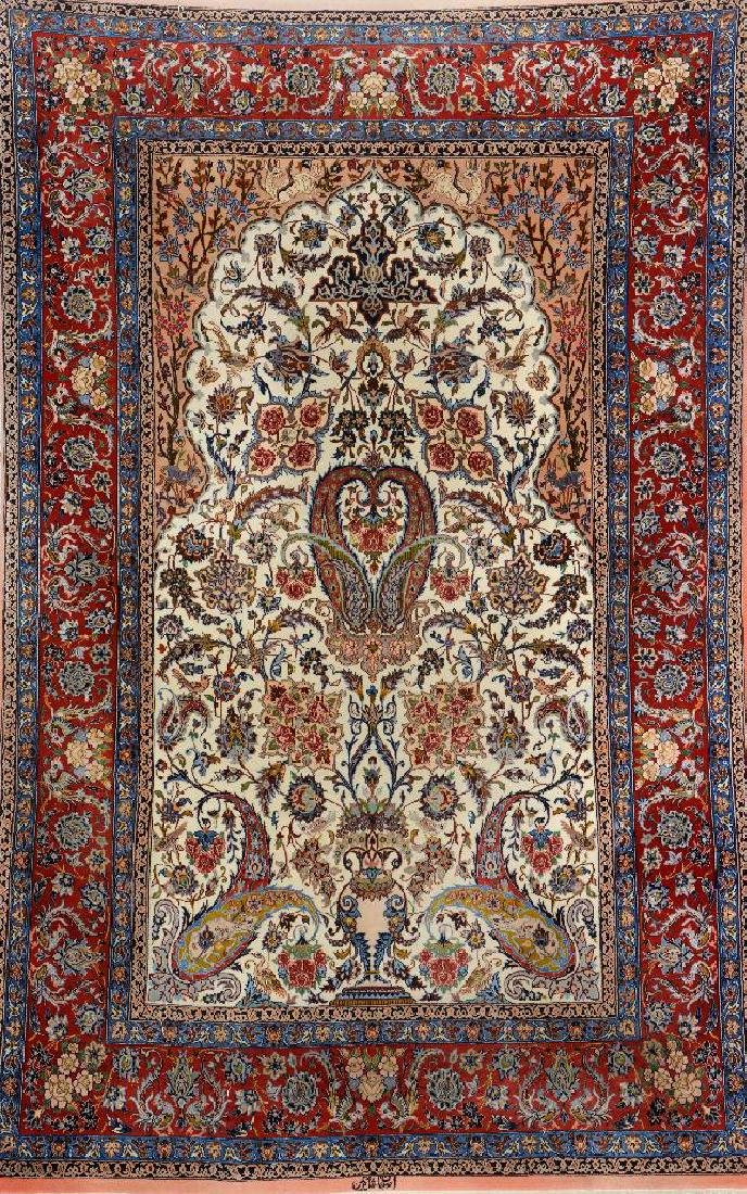 Fine Isfahan (Part-Silk) 'Shakerin' Rug (Signed),