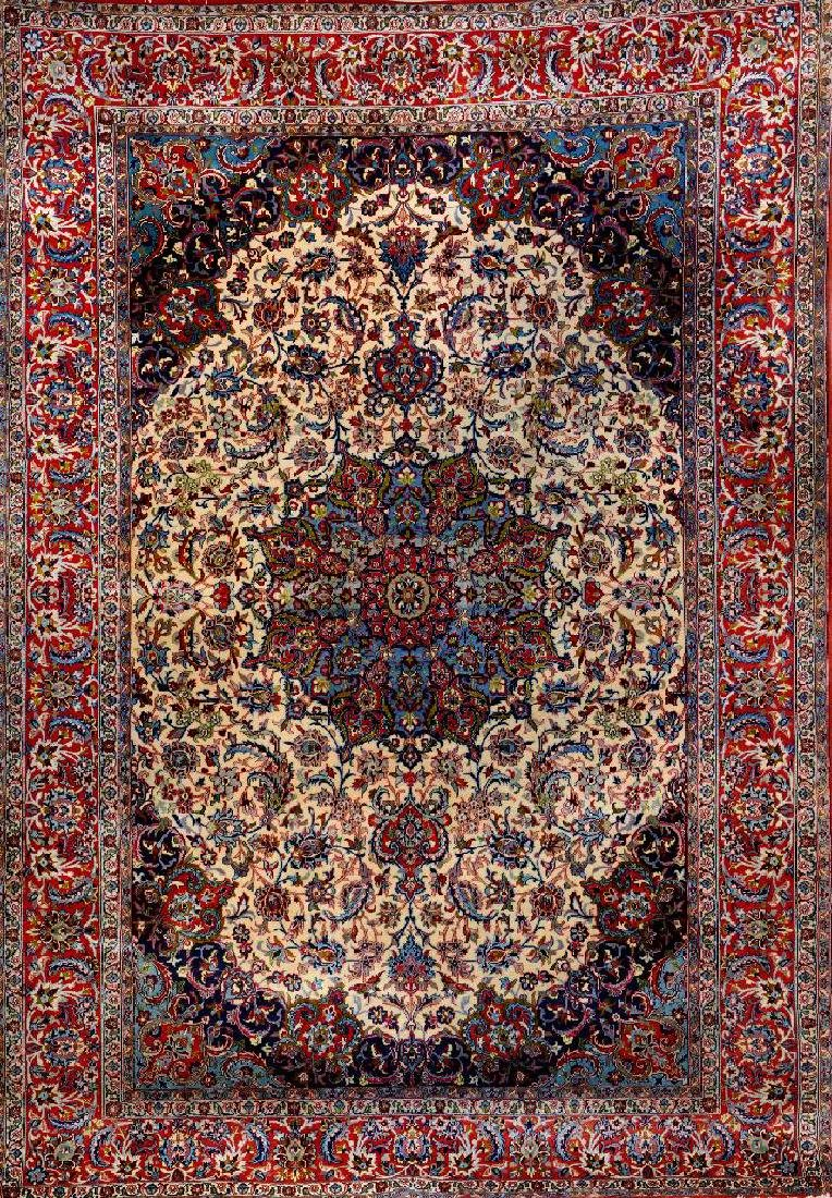 Fine Isfahan 'Part-Silk' Rug,