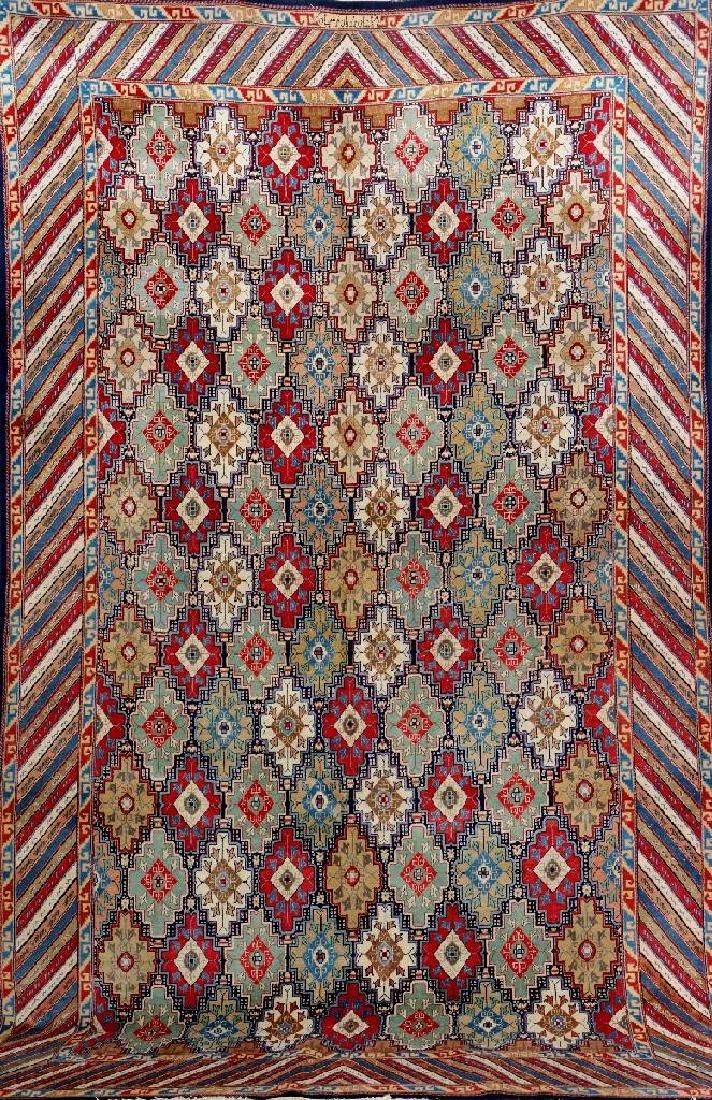 Unusual Kashan 'Farschian Brothers' Carpet (Signed),