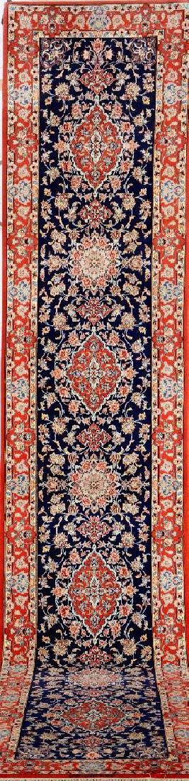 Fine Isfahan (Part-Silk) 'Sarabi' Runner (Signed),