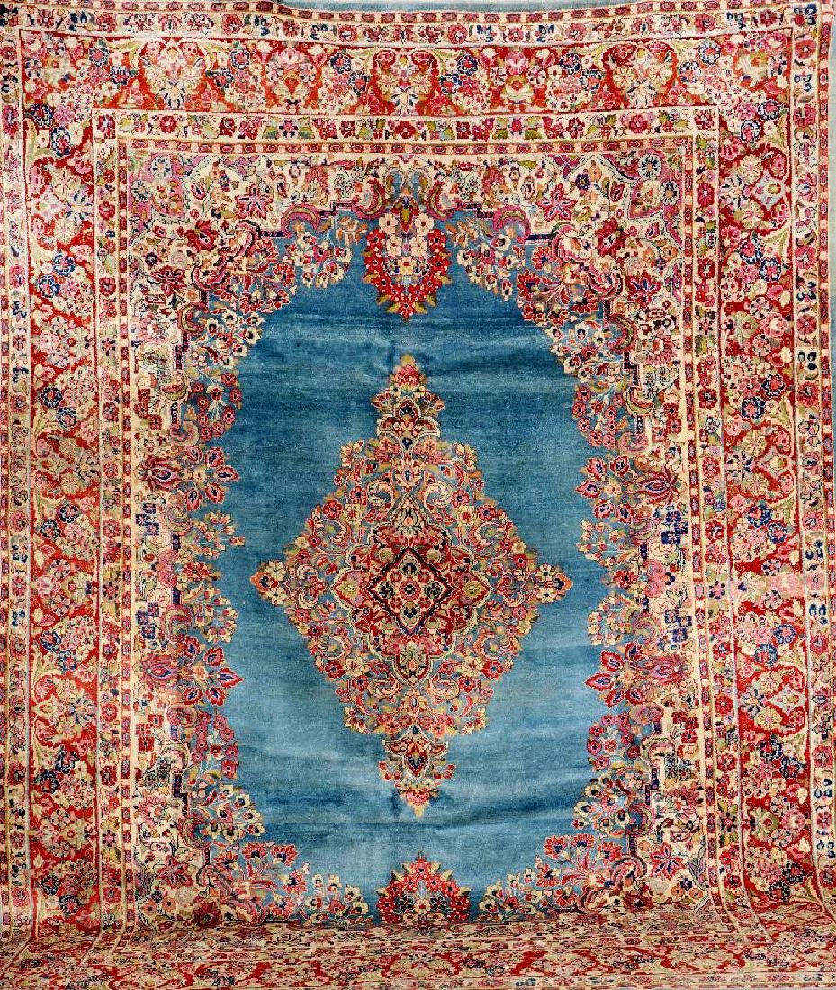 Blue Ground US Saruk Carpet,