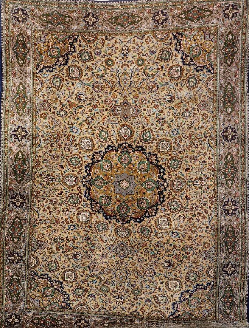 Kurk Qum 'Part-Silk' Carpet,