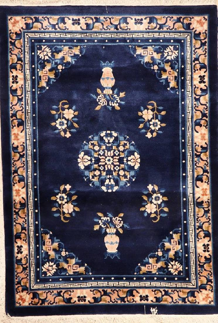 Antique-Finished Chinese Rug,