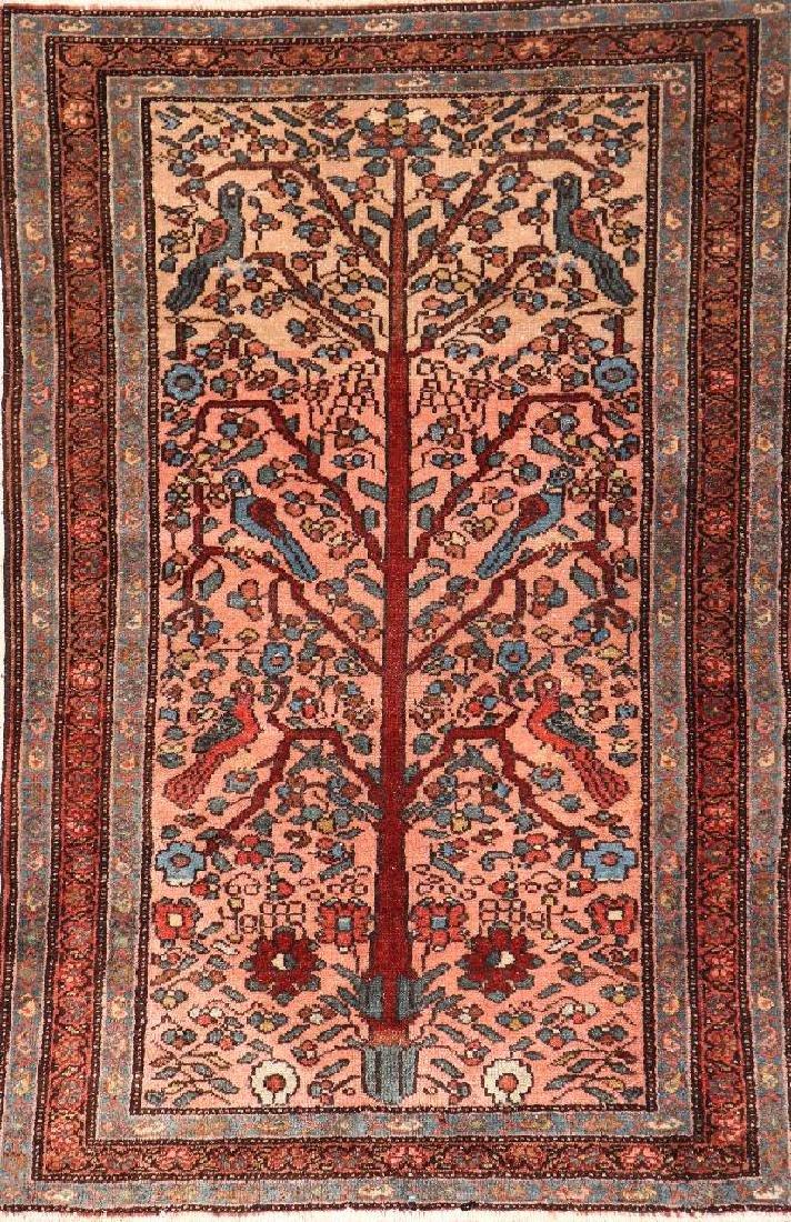 Hamadan 'Tree Of Life' Rug,