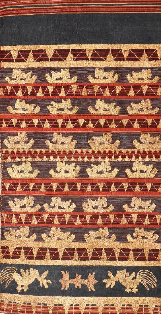 Cotton & Metal-Thread 'Sarong' (Skirt),