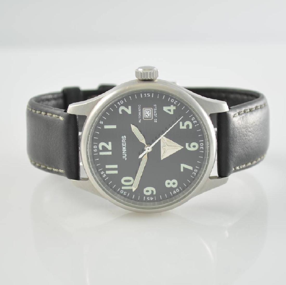 JUNKERS JU 52 gents wristwatch in stainless steel