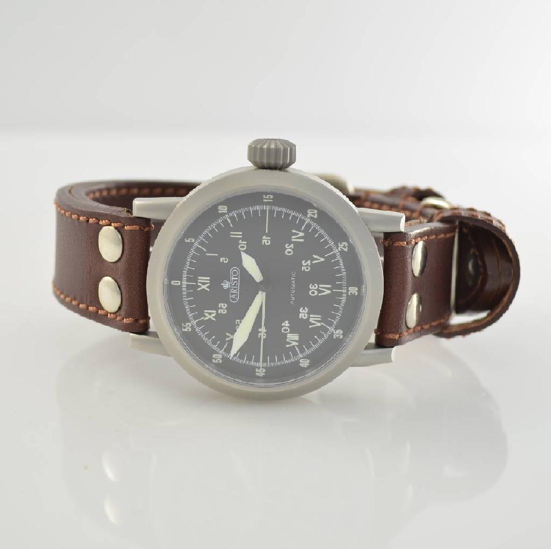ARISTO gents wristwatch in stainless steel