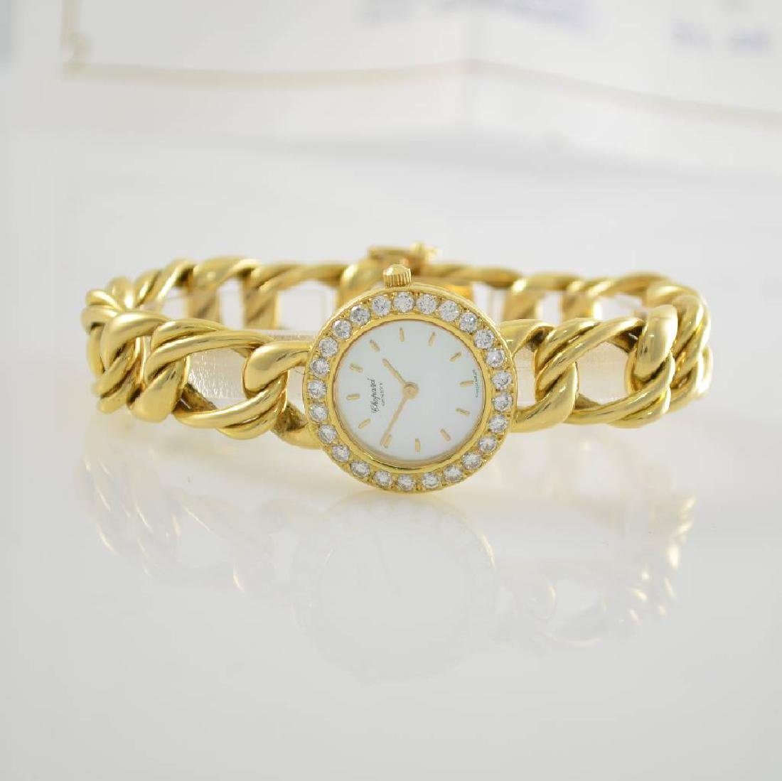 CHOPARD unusual ladies wristwatch in 18k yellow gold