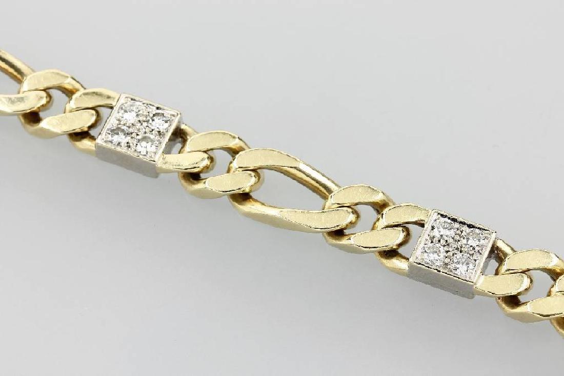 14 kt gold bracelet with brilliants