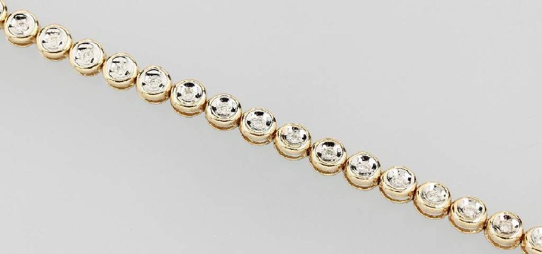 14 kt gold rivierebracelet with brilliants