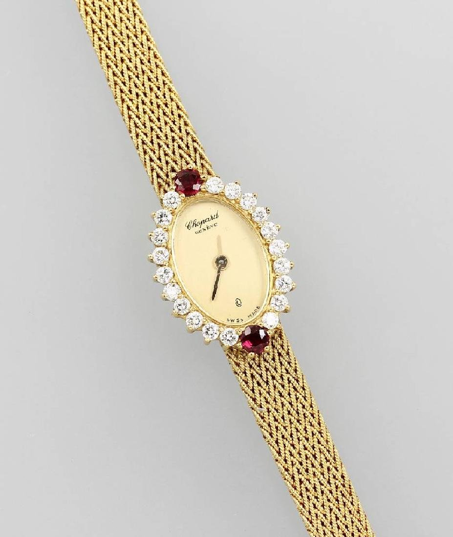 CHOPARD ladies' wrist watch with rubies and brilliants