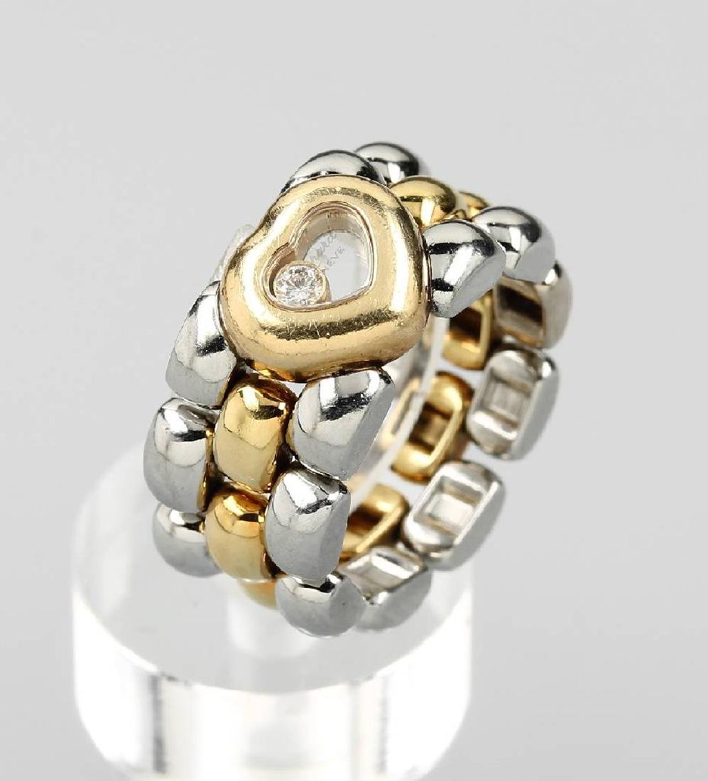 CHOPARD chain ring with brilliant, YG 750/000 and