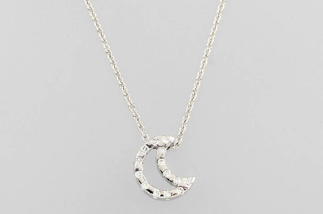 18 kt gold necklace 'moon' with brilliants
