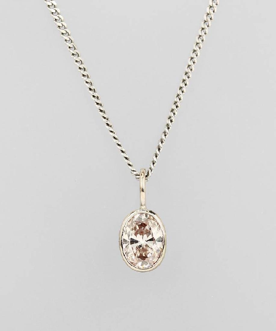 18 kt gold pendant with diamond