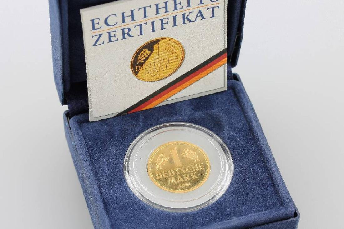 Gold coin, 1 Mark, Germany, 2001