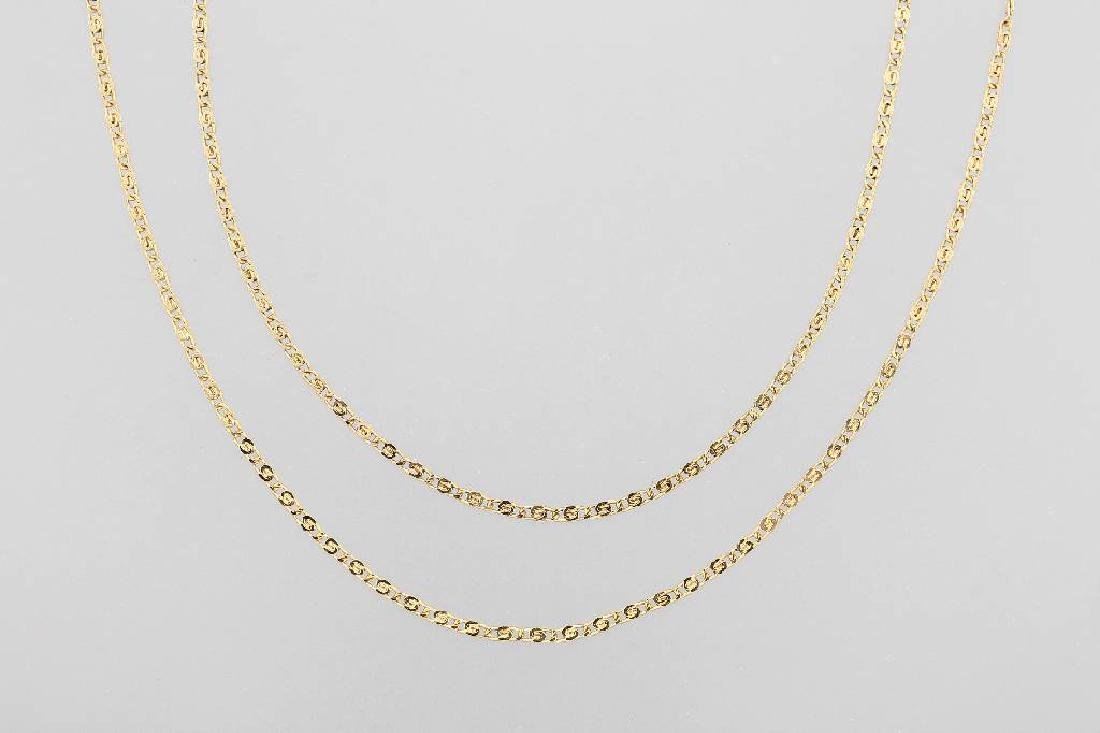 14 kt gold extra-long chain