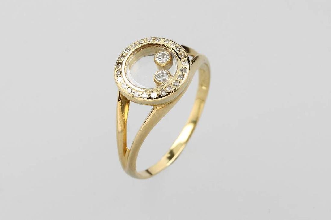18 kt gold CHOPARD ring with 8/8-diamonds