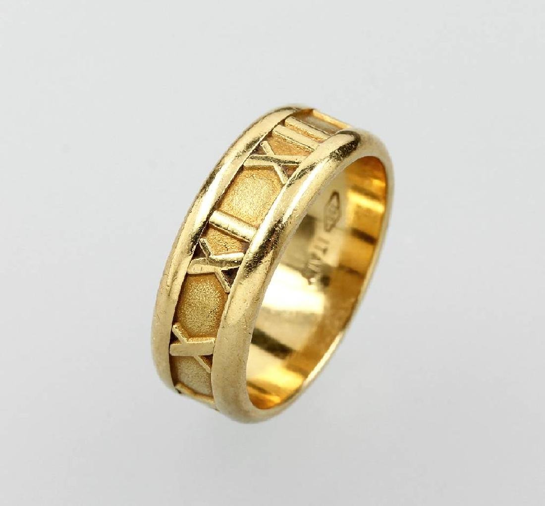 18 kt gold TIFFANY & Co. Ring, 'Atlas'