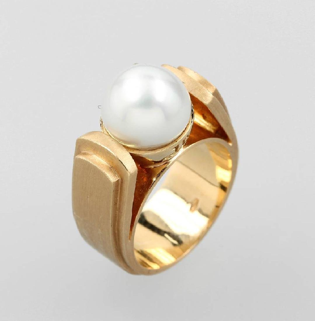 18 kt gold JETTE JOOP ring with cultured pearl