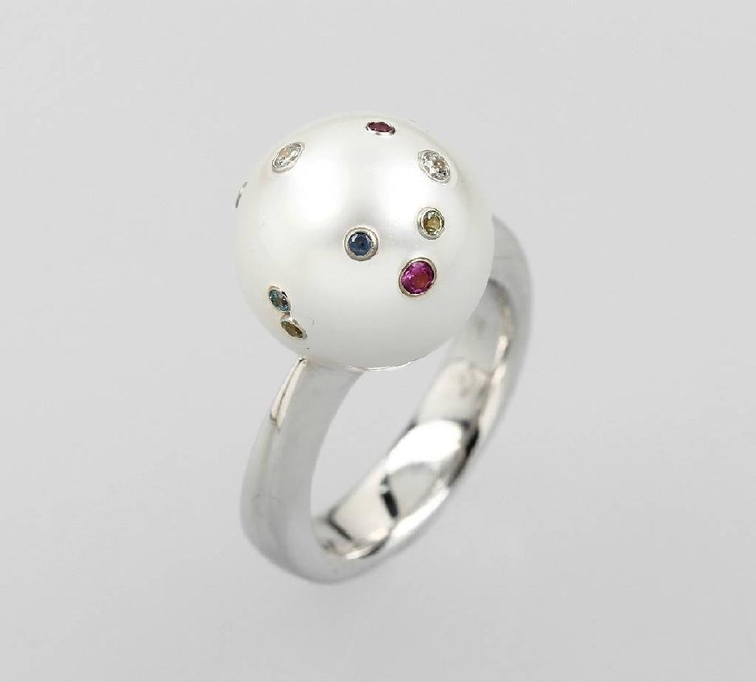 18 kt gold ring with south sea pearl
