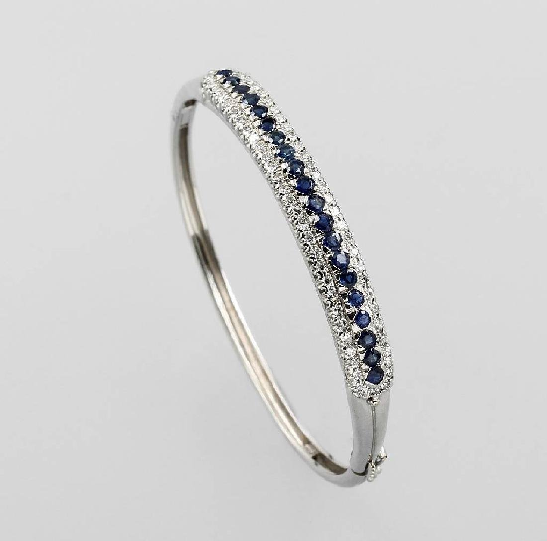 18 kt gold bangle with sapphires and diamonds