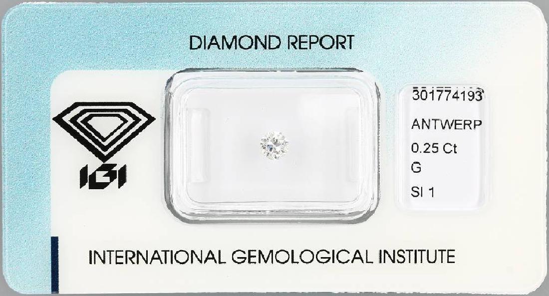 Loose old cut diamond, 0.25 ct