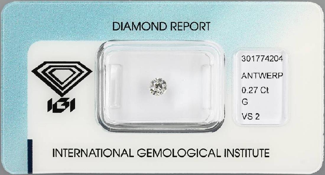 Loose old cut diamond, 0.27 ct