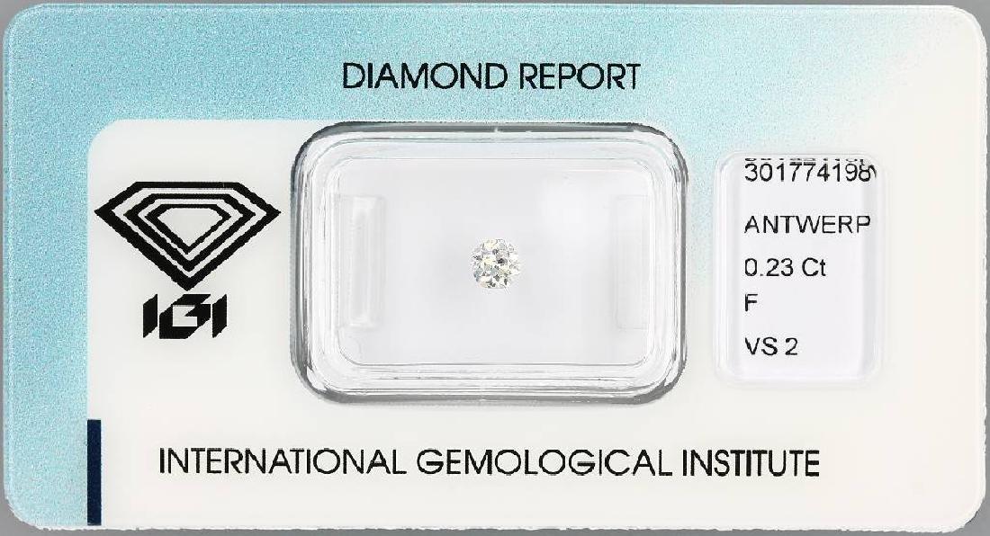 Loose old cut diamond, 0.23 ct