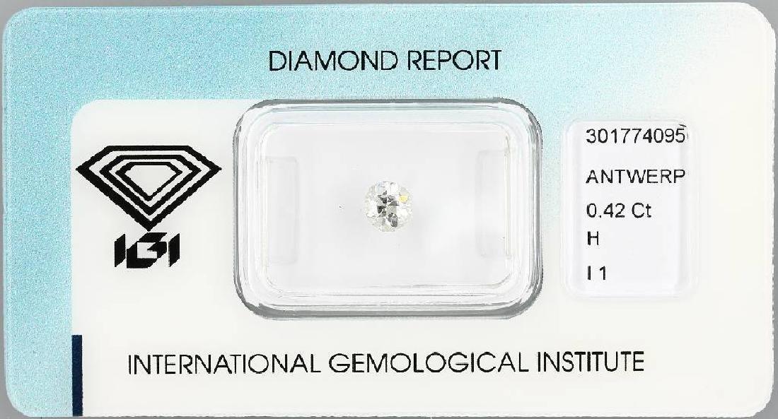 Loose old cut diamond, 0.42 ct