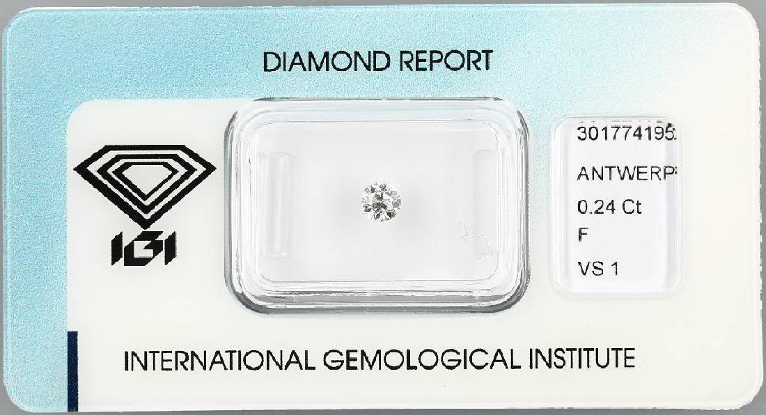 Loose old cut diamond, 0.24 ct