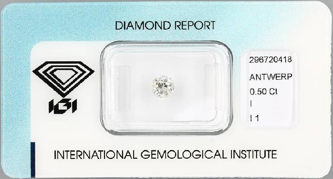 Loose old cut diamond, 0.50 ct