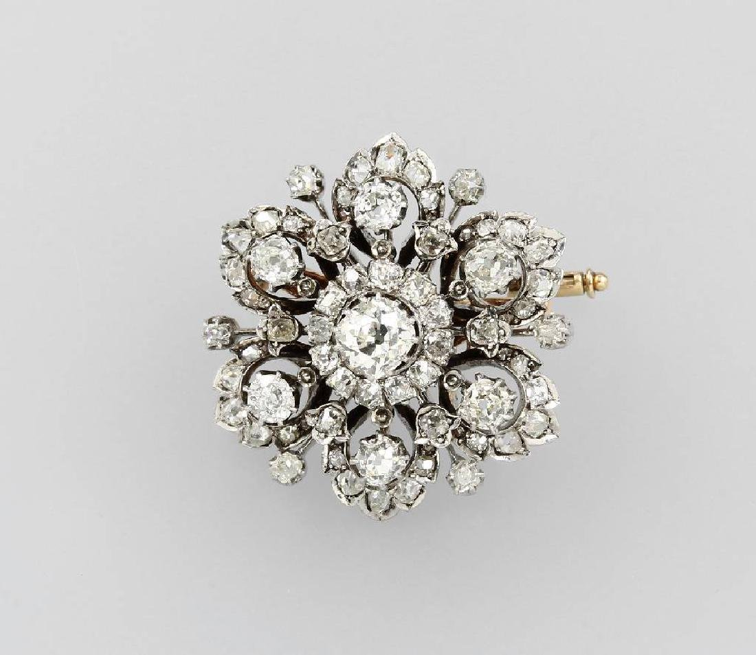Brooch with diamonds, german approx. 1860s