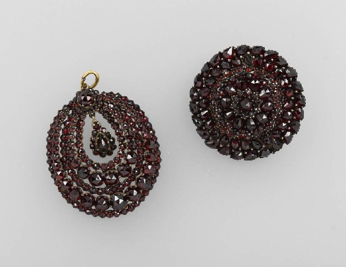 Lot with garnets, Bohemia approx. 1900s