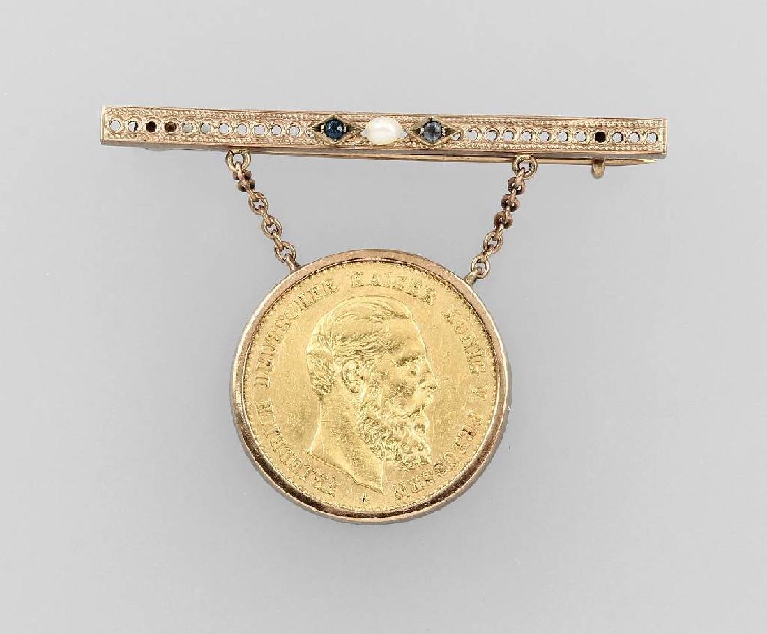 Gold coin 10 Mark 1888, German Reich 1904