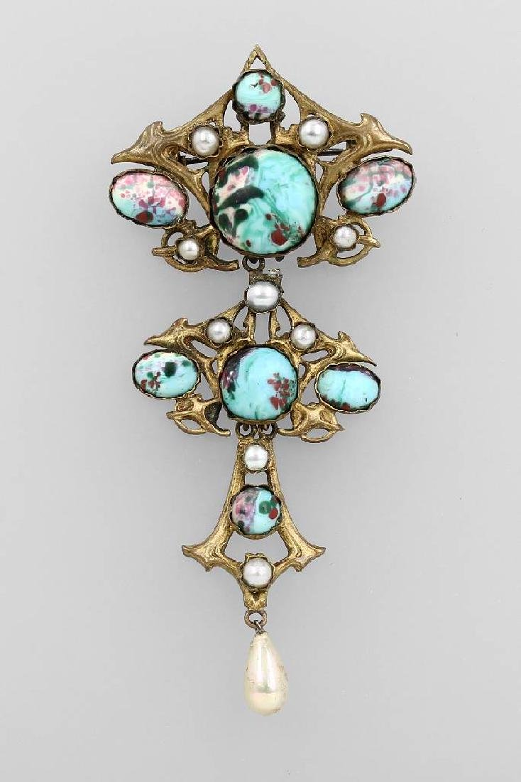 Pendant, France approx. 1900, metal gilded
