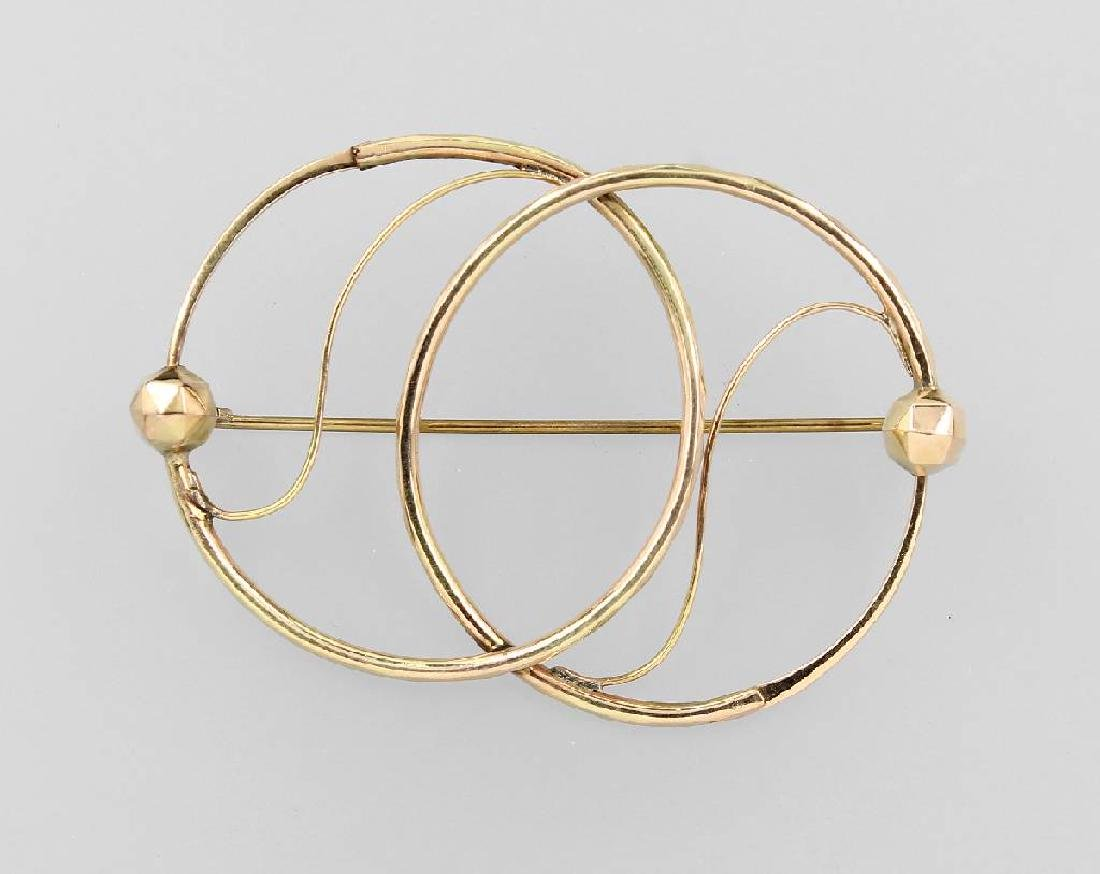 Brooch formerly pair of earrings approx. 1820