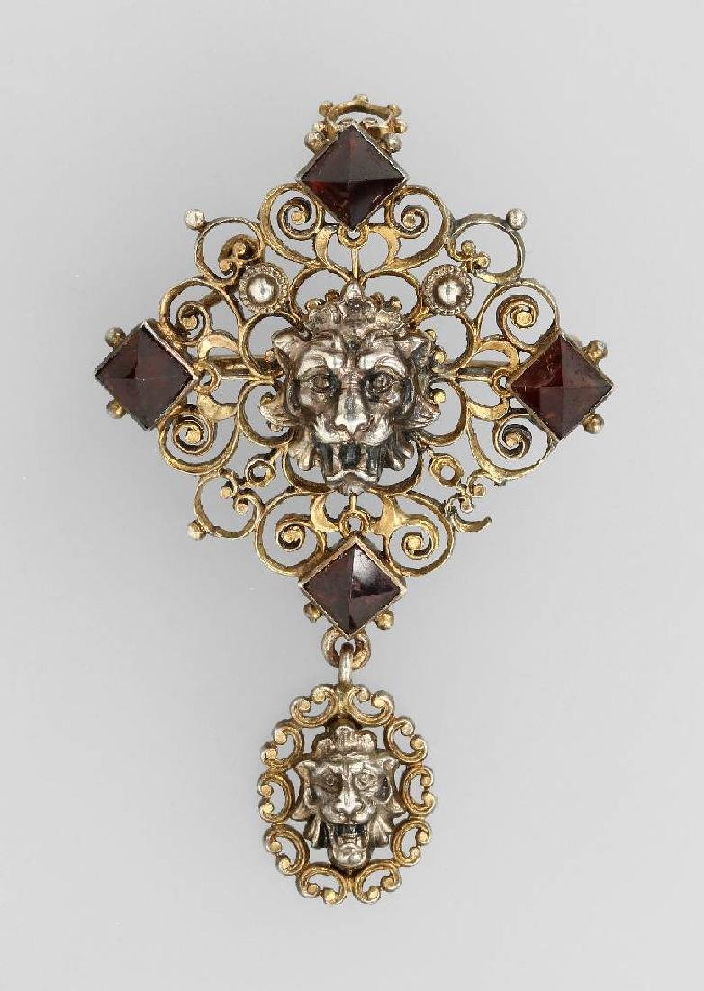 Brooch/pendant with garnets, Austria approx. 1870/80